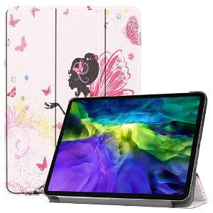 "iPad Pro 11"" (2020 / 2018) Tri-Fold Læder Cover - Pige & Sommerfugle"