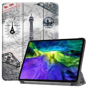 """iPad Pro 11"""" (2020 / 2018) Tri-Fold Læder Cover - Eiffeltårnet"""