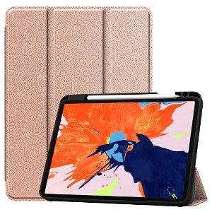 "iPad Pro 12.9"" (2020) / (2018) Tri-Fold Læder Cover m. Apple Pencil Holder Guld"