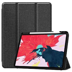"iPad Pro 11"" (2021 / 2020 / 2018) Læder Cover m. Jeans Struktur - Sort"