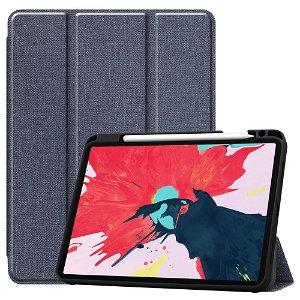 """iPad Pro 11"""" (2020) / (2018) Læder Cover m. Jeans Struktur - Blå"""