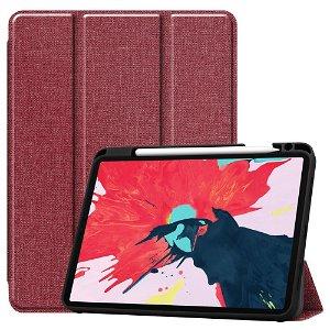 "iPad Pro 11"" (2020 / 2018) Læder Cover m. Jeans Struktur - Rød"