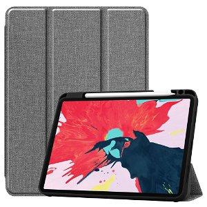 """iPad Pro 11"""" (2020) / (2018) Læder Cover m. Jeans Struktur - Grå"""