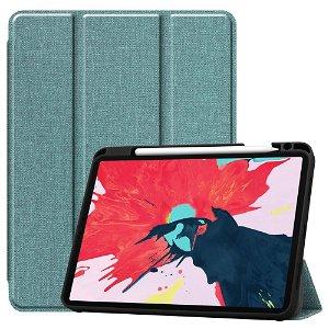 "iPad Pro 11"" (2020 / 2018) Læder Cover m. Jeans Struktur - Lyseblå"