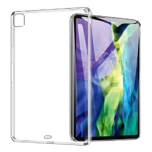 """iPad Pro 12.9"""" (2021/2020/2018) Bagside Cover - Clear TPU Cover - Gennemsigtig"""