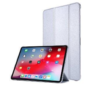 """iPad Pro 12.9"""" (2020) / iPad Pro 12.9"""" (2018) Læder Stand Etui - Tri-Fold - Sølv"""
