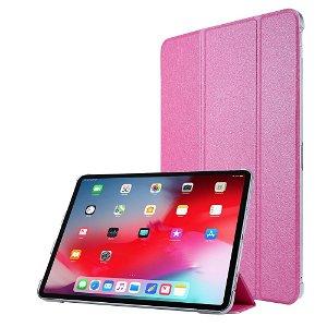 """iPad Pro 12.9"""" (2020) / iPad Pro 12.9"""" (2018) Læder Stand Etui - Tri-Fold - Pink"""