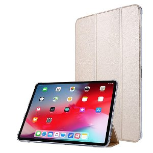 """iPad Pro 12.9"""" (2020) / iPad Pro 12.9"""" (2018) Læder Stand Etui - Tri-Fold - Guld"""