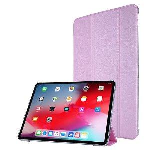 """iPad Pro 12.9"""" (2020) / iPad Pro 12.9"""" (2018) Læder Stand Etui - Tri-Fold - Lyserød"""