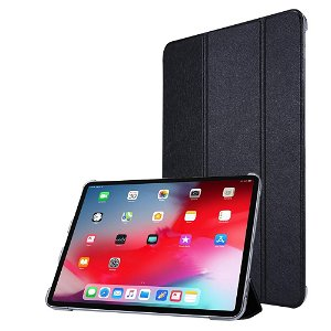 """iPad Pro 12.9"""" (2020) / iPad Pro 12.9"""" (2018) Læder Stand Etui - Tri-Fold - Sort"""