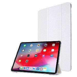 """iPad Pro 12.9"""" (2020) / iPad Pro 12.9"""" (2018) Læder Stand Etui - Tri-Fold - Hvid"""