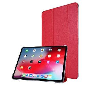 """iPad Pro 12.9"""" (2020) / iPad Pro 12.9"""" (2018) Læder Stand Etui - Tri-Fold - Rød"""