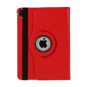 """iPad Pro 12.9"""" (2020 / 2018) Læder Cover m. 360⁰ Standerfunktion - Rød"""