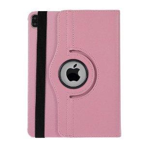 """iPad Pro 12.9"""" (2020 / 2018) Læder Cover m. 360⁰ Standerfunktion - Pink"""