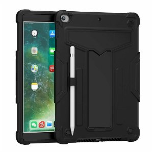 """iPad 10.2"""" (2021 / 2020 / 2019) Håndværker Case m. Kickstand - Sort"""