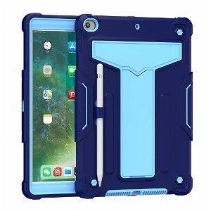 """iPad 10.2"""" (2021 / 2020 / 2019) Håndværker Case m. Kickstand Lyseblå / Mørkeblå"""