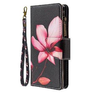 iPhone 6 / 6s Cover m. Stor Pung i Læder - Lotus blomst