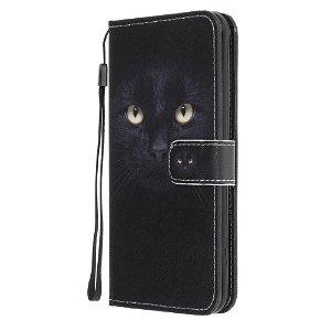 iPhone 12 / 12 Pro Læder Cover m. Kortholder - Sort Kat