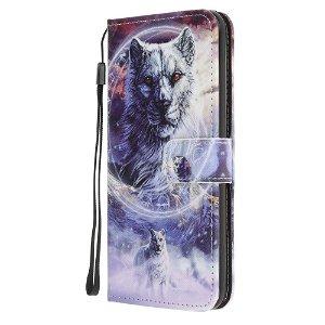 iPhone 12 / 12 Pro Læder Cover m. Kortholder - Hvid Tiger