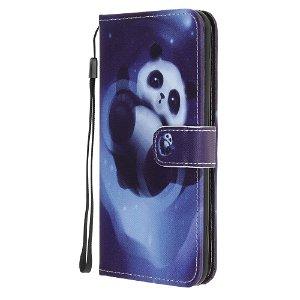 iPhone 12 / 12 Pro Læder Cover m. Kortholder - Panda