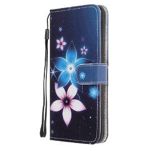 iPhone 12 / 12 Pro Læder Cover m. Kortholder - To Blomster