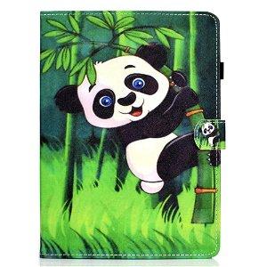 iPad Air (2020) Cover m. Ståfunktion, Kortholder & Apple Pencil Holder - Panda I Bambusgren