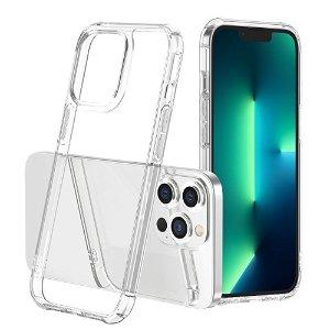 iPhone 13 Pro Drop-Proof Fleksibelt Plastik Håndværker Bagside Cover - Gennemsigtig
