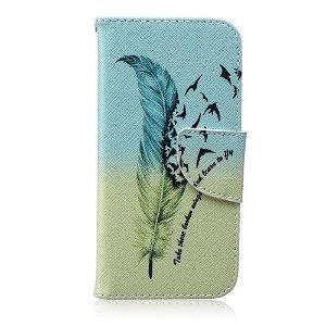 iPhone 6 / 6s Læder Cover m. Kortholder - Fjer & Fugle