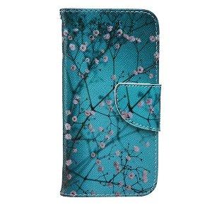 iPhone 6 / 6s Læder Cover m. Kortholder - Blomstergrene