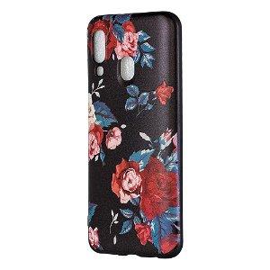 Samsung Galaxy A40 Fleksibelt Plast Cover - Roser