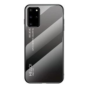 Samsung Galaxy S20+ (Plus) Cover m. Glas Bagside - Hello - Grå