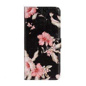 Samsung Galaxy A71 Læder Stand Cover m. Kortholder - Vivid Flowers
