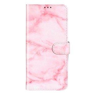 Samsung Galaxy S20+ (Plus) Læder Stand Cover m. Kortholder - Pink Marble