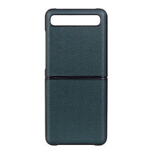 Samsung Galaxy Z Flip Læderbetrukket Cover - Grøn