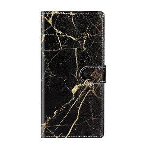 Samsung Galaxy S20+ (Plus) Sort Marmor Cover m. Kortholder - Sort