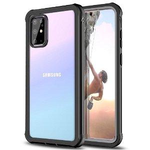 Samsung Galaxy S20+ (Plus) Heavy Duty Case - Håndværker Case - Gennemsigtig / Sort