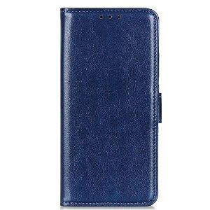 Samsung Galaxy A21s Læder Cover m. Kortholder + Stander - Blå