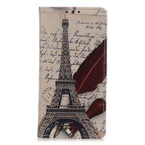 Samsung Galaxy A21s Læder Cover m. Kortholder - Eiffeltårnet
