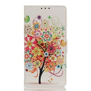 Samsung Galaxy A21s Læder Cover m. Kortholder - Rødt Træ