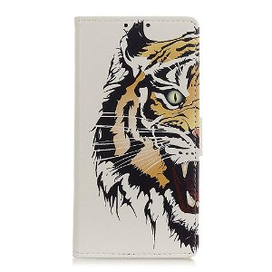 Samsung Galaxy A21s Læder Cover m. Kortholder - Tiger