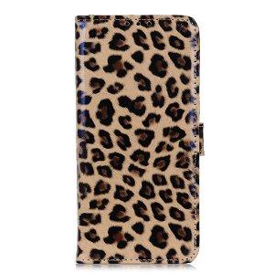 Samsung Galaxy A21s Læder Cover m. Kortholder + Stander - Glossy Leopard