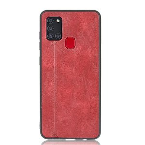 Samsung Galaxy A21s - Læderbelagt Cover - Rød