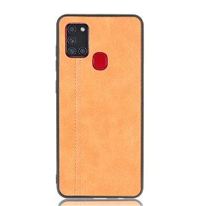 Samsung Galaxy A21s - Læderbelagt Cover - Brun