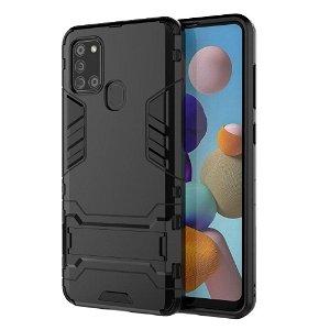 Samsung Galaxy A21s - Håndværker Case m. Stander Sort
