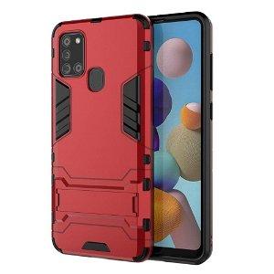 Samsung Galaxy A21s - Håndværker Case m. Stander Rød
