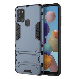 Samsung Galaxy A21s - Håndværker Case m. Stander Blå