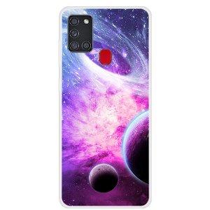 Samsung Galaxy A21s Space Series Plast Cover - Nebula Galaxy