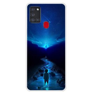 Samsung Galaxy A21s Space Series Plast Cover - Space City