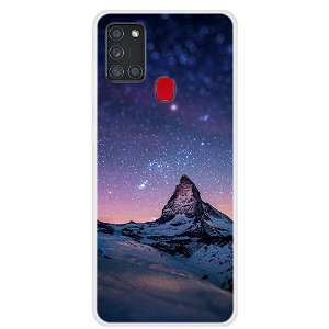Samsung Galaxy A21s Space Series Plast Cover - Mountain and Stars