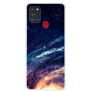 Samsung Galaxy A21s Space Series Plast Cover - Starry Sky